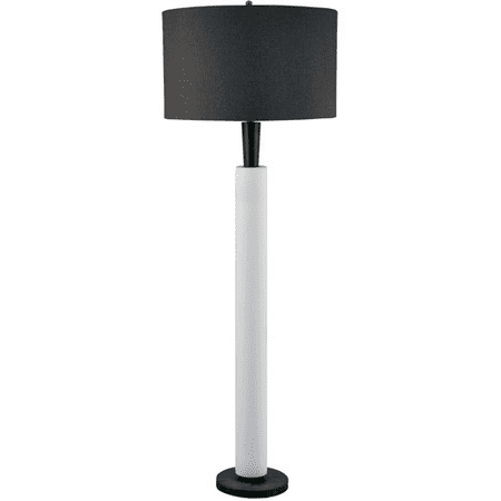 Floor Lamps 1 Light With White Bisque and Modern Wood Ceramic Wood E26 64 inch 150 Watts