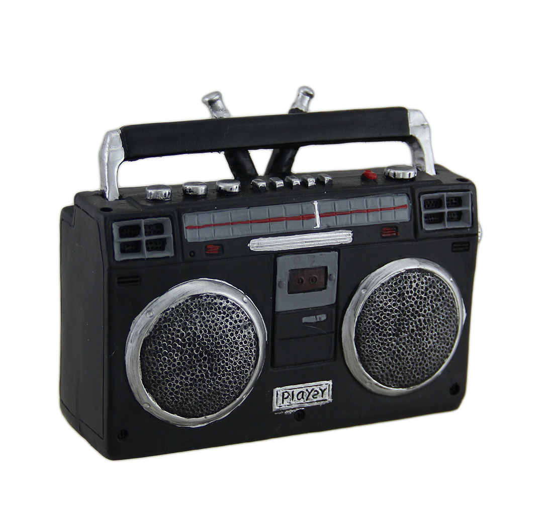 Retro Boombox Radio Cassette Player Coin Bank