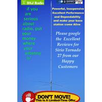 Sirio New Tornado 27 27 - 30 Mhz Tunable 3000 W Base Antenna