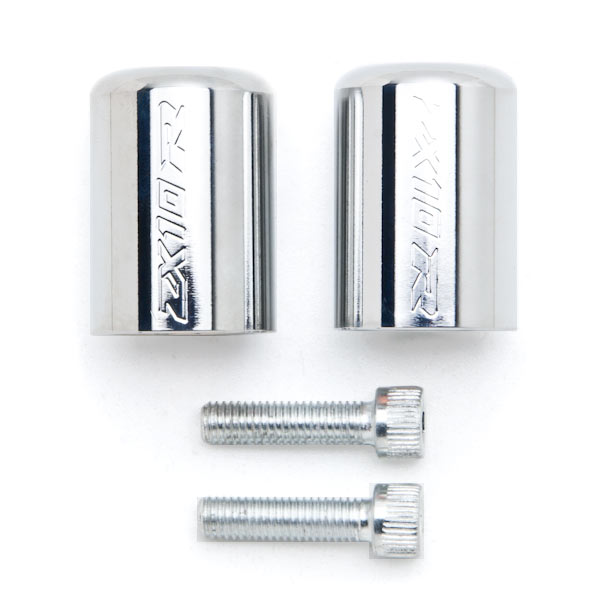 Chrome Spike Bar Ends Stiletto caps for Comfort Style Motorcycle Cruiser Grips