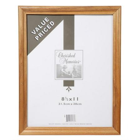 Wood Frame: Oak, 8.5 x 11 inches