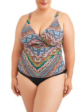 bdb55377b3 Product Image Women s Plus Size Cabana Twist Front Tankini Top