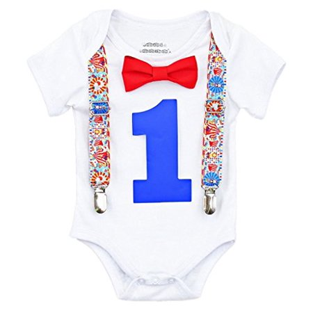 Noah's Boytique Baby Boys 1st Birthday Circus Carnival Outfit Newborn 3-6 Months