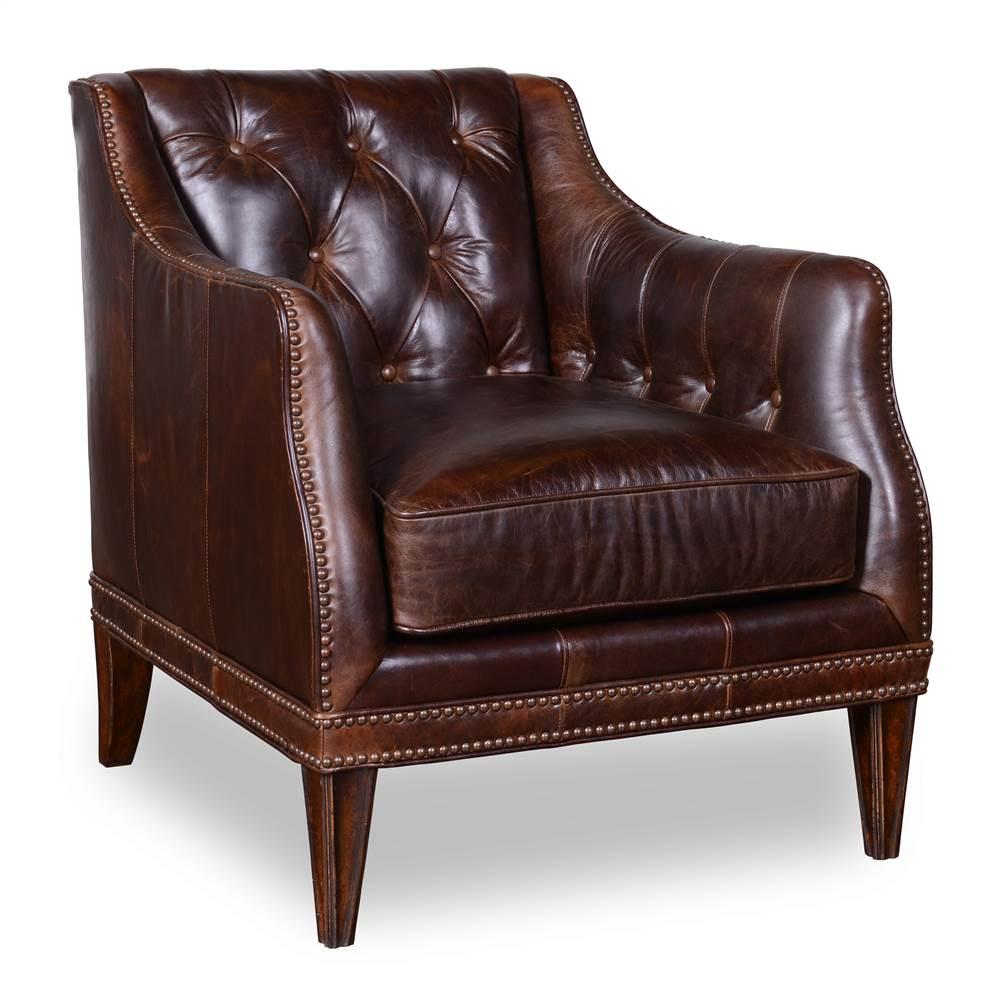 Matching Leather Chair in Walnut Finish