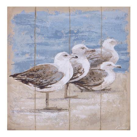 Patton Wall Decor Seagulls On The Coast Canvas Art