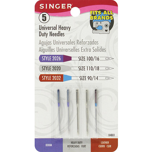 Singer Universal Heavy Duty Machine Needles, 5/Pkg
