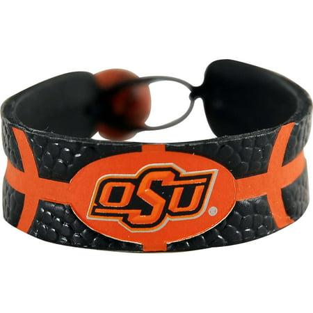 NCAA Oklahoma State Cowboys Sports Team Logo Gamewear Leather Basketball Bracelet Team Color Leather
