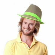 Dress Up America 677 Weaved Fedora Hat