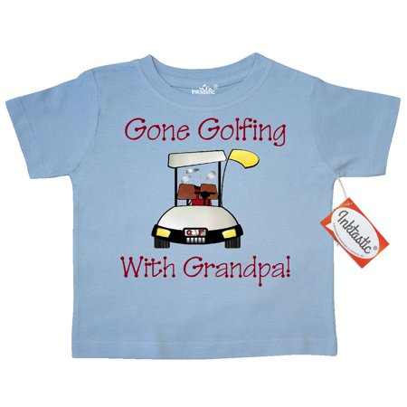 Inktastic Gone Golfing With Grandpa Toddler T-Shirt father's day gifts fathers flowers happy gift ideas father for special present unique presents dad daddy busy world's best worlds dad's no. 1 golf