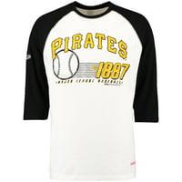 Pittsburgh Pirates Stitches 3/4-Sleeve Raglan T-Shirt - Cream