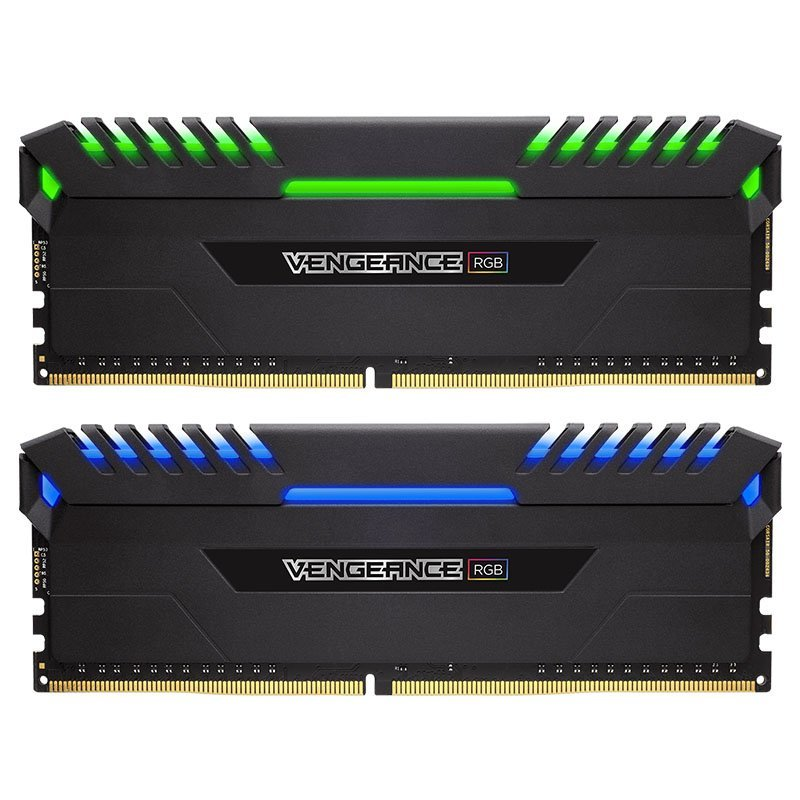 Corsair Vengeance RGB LED 16GB (2x8GB) DDR4 3000 (PC4-24000) C15 - Intel 100/200 Series PC Memory (CMR16GX4M2C3000C15)