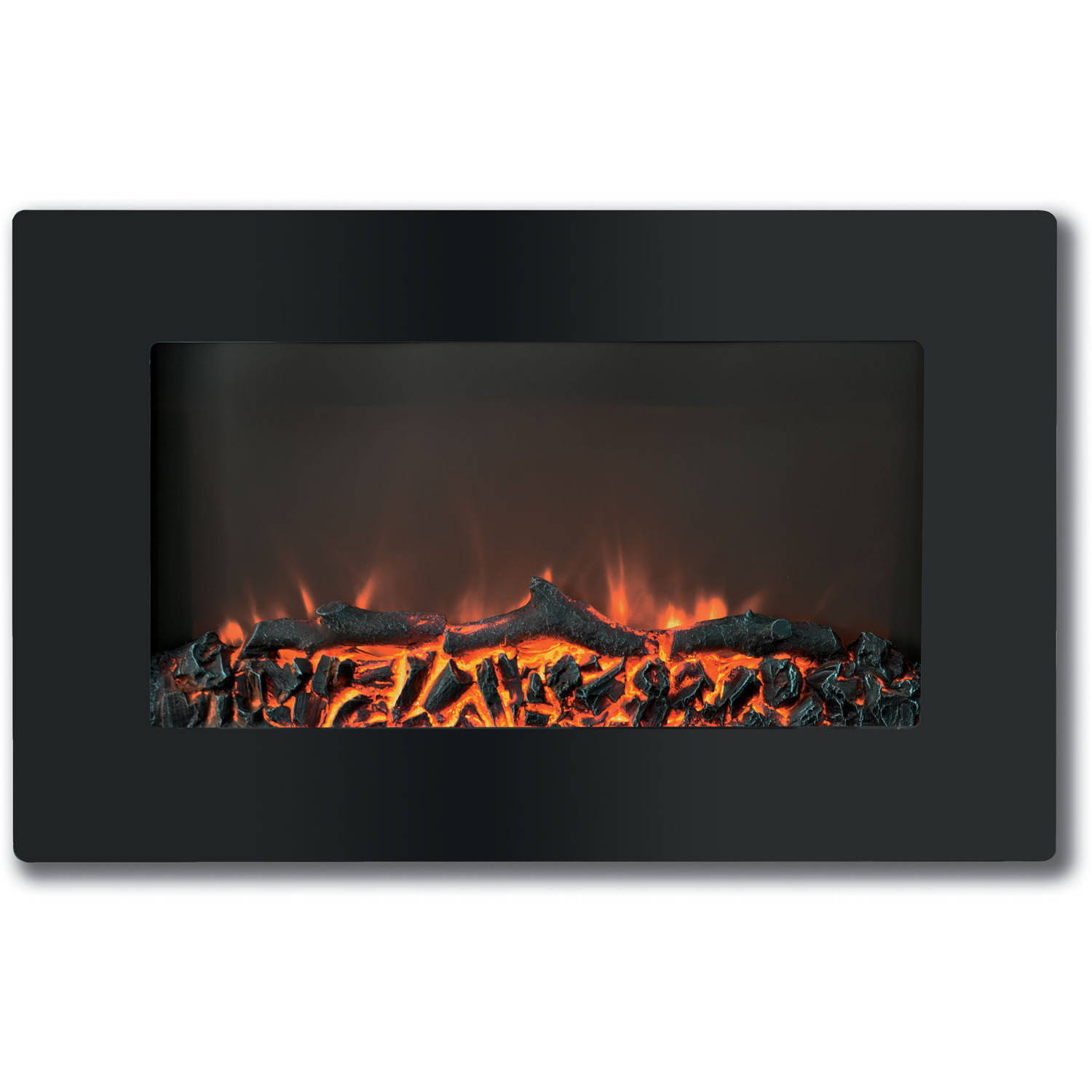"""Cambridge Callisto 30"""" Wall-Mount Electronic Fireplace with Flat-Panel and Realistic Logs"""