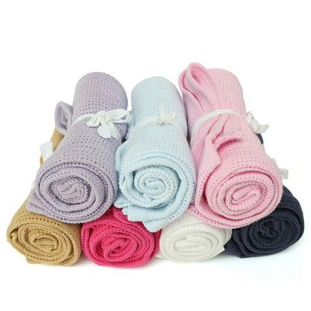 Dog Newborn Crib (100% Cotton Newborn Baby Soft Nursery Infant Cellular Soft Blanket Pram Cot Bed Mosses Basket Crib 40