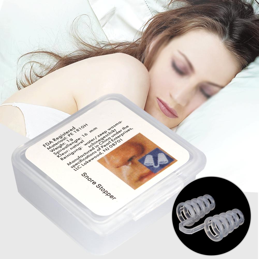 Yosoo 2Sizes Relieve Snoring Stopper Guard Easy Sleeping Breath Aid Clip Nasal Dilator Device, Nasal Dilator, Snoring Device
