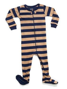 Leveret Striped Baby Girls Footed Pajamas Sleeper 100% Cotton Kids & Toddler Pjs (0 Months-5 Toddler)