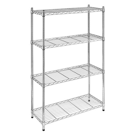 Whitmor Supreme 4-Tier Shelving Chrome