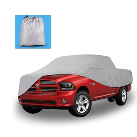 All Weather Protection Waterproof Pickup Truck Cover Universal Fit Breathable Lining Rain Sun UV Rays Snow Dustproof Outdoor(Fit Truck up to - Weather Waterproof Motorcycle Cover