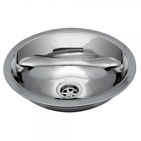 Ambassador Marine Oval Stainless Steel Round Bottom Brushed Finish Sink, 13 1/4-Inch Long x 10 1/2-Inch Wide x 5 1/4-Inch