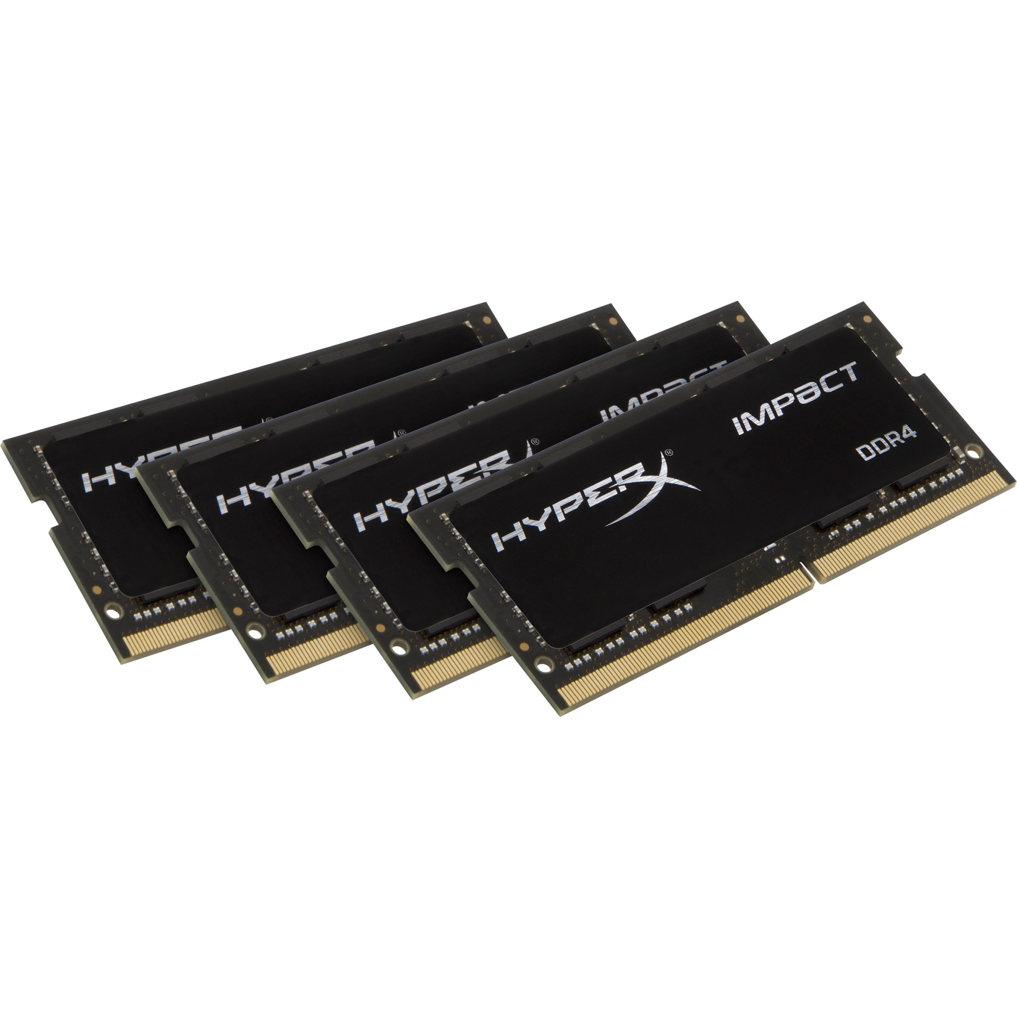 Kingston HyperX Impact SODIMM - 64GB Kit (4x16GB) - DDR4 2400MHz - 64 GB (4 x 16 GB) - DDR4 SDRAM - 2400 MHz DDR4-2400