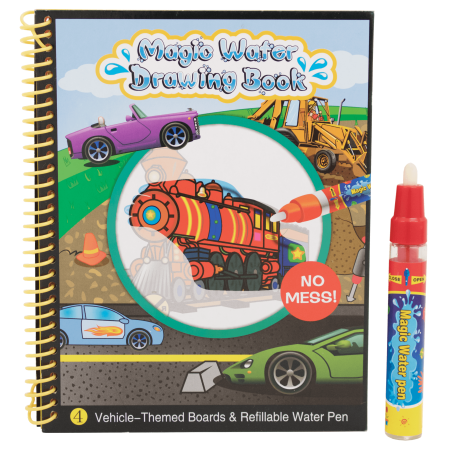 TECHEGE Toys Imagine Magic Water Coloring Book For Kids Safe, Non Toxic, Stain Free, Ink Free Kids Fun for All Ages - Magic Ink