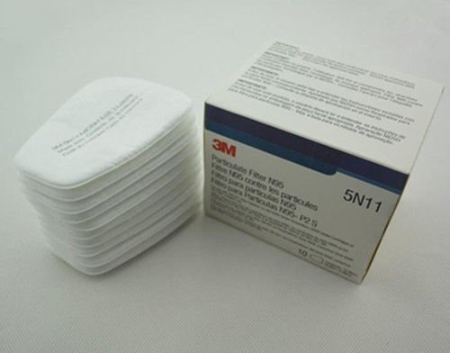 Interesting 10pcs=1Box 5N11 N95 Cotton Filter for 3M 6100 6200 6800 7000 Respirator Gas Mask by Interesting