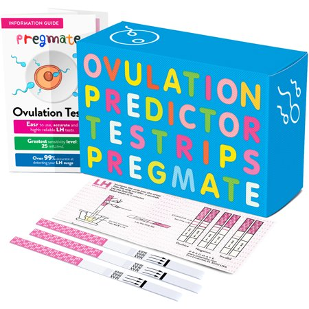 PREGMATE 20 Ovulation LH Test Strips One Step Urine Test Strip Combo Predictor Pregnancy Kit Pack (20