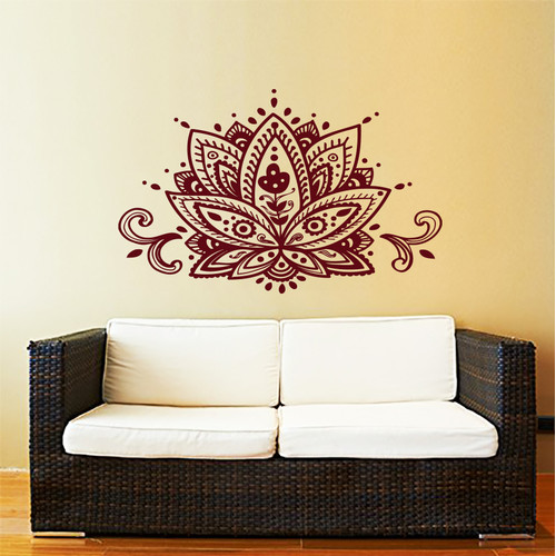 Decal House Mandala Lotus Flower Wall Decal