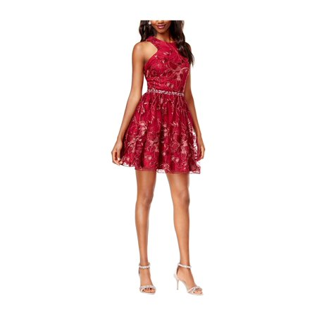Say Yes to the Prom Womens Embroidered A-line Dress winesilv 7 -