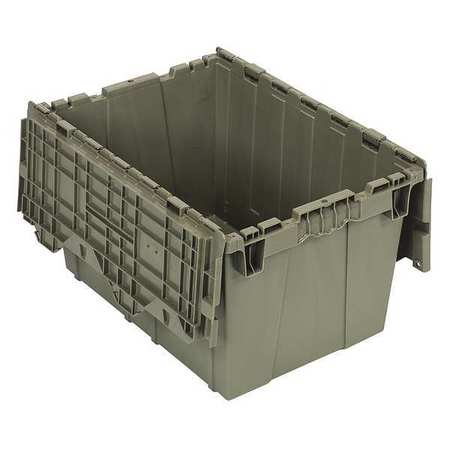 QUANTUM STORAGE SYSTEMS Attached Lid Container,1.67 cu ft,Gray QDC2115-12