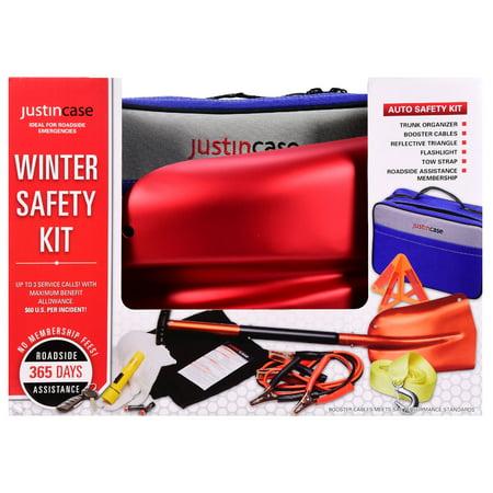 Justin case winter car safety kit aluminum shovel factory sealed roadside emerg