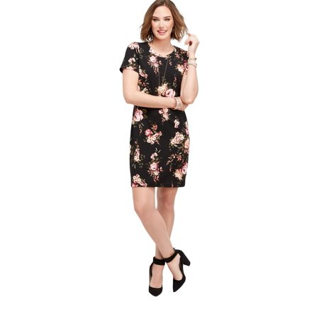 13c07029c54 maurices - Floral T-Shirt Dress - Walmart.com