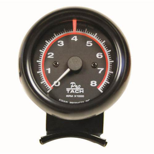 "Equus 2-1/2"" Mini Tachometer, Black"