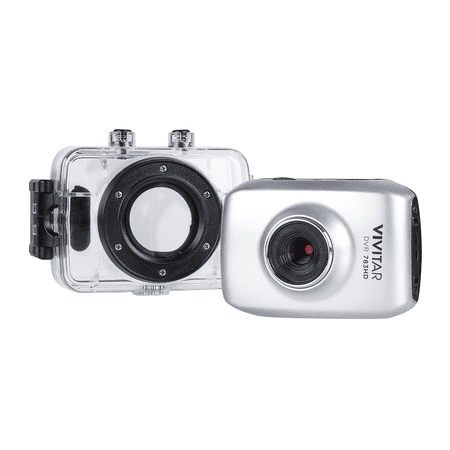 Vivitar 5.1MP HD ACTION CAMCORDER 720P, Silver ()
