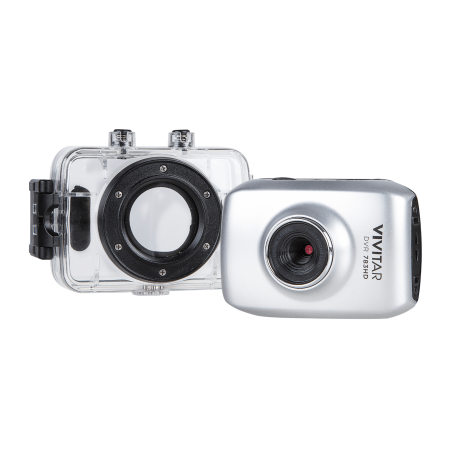 Vivitar 5.1MP HD ACTION CAMCORDER 720P, Silver