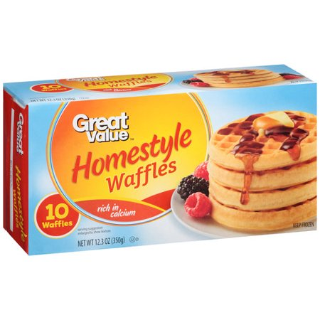 Great Value Homestyle Waffles 10 Count 12 3 Oz Walmart Com