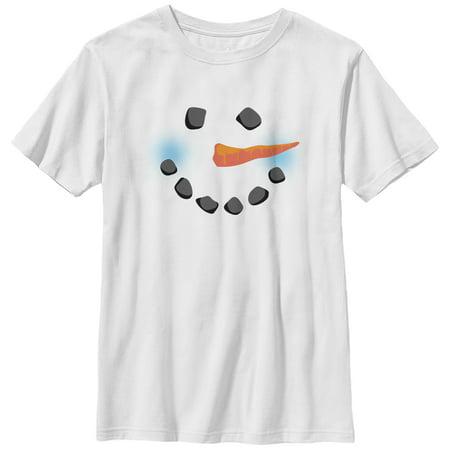 Boys' Snowman Face T-Shirt