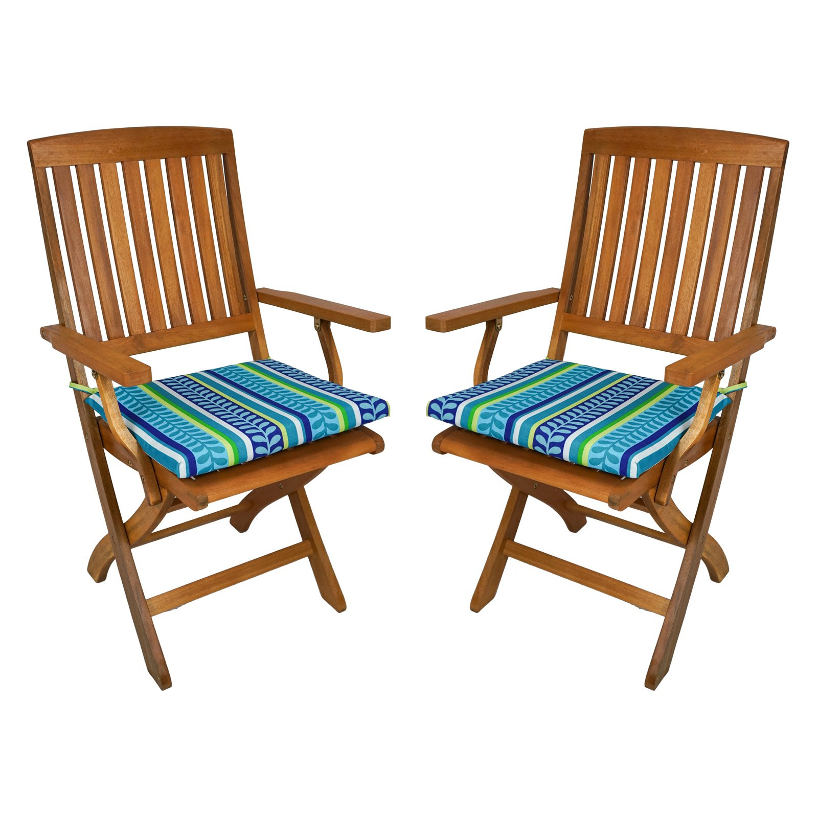 Beau Blazing Needles Outdoor Folding Chair Cushion   17.5 X 15 In.   Set Of 2