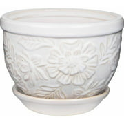 Pennington Ceramic Vintage Floral Pot/Planter, 6 inch