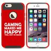 For Apple iPhone 5 5s Shockproof Impact Hard Soft Case Cover Funny Gaming Makes Me Happy You Not So Much (Red) For Apple iPhone 5 5s Shockproof Impact Hard Soft Case Cover Funny Gaming Makes Me Happy You Not So Much (Red)