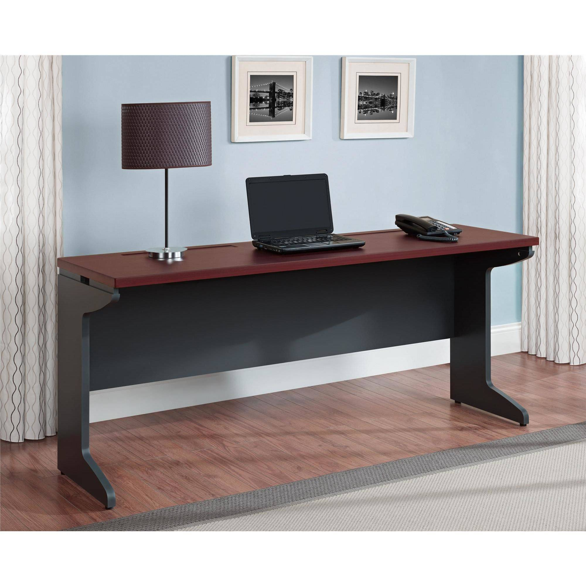 Ameriwood Home Pursuit Credenza, Cherry/Gray