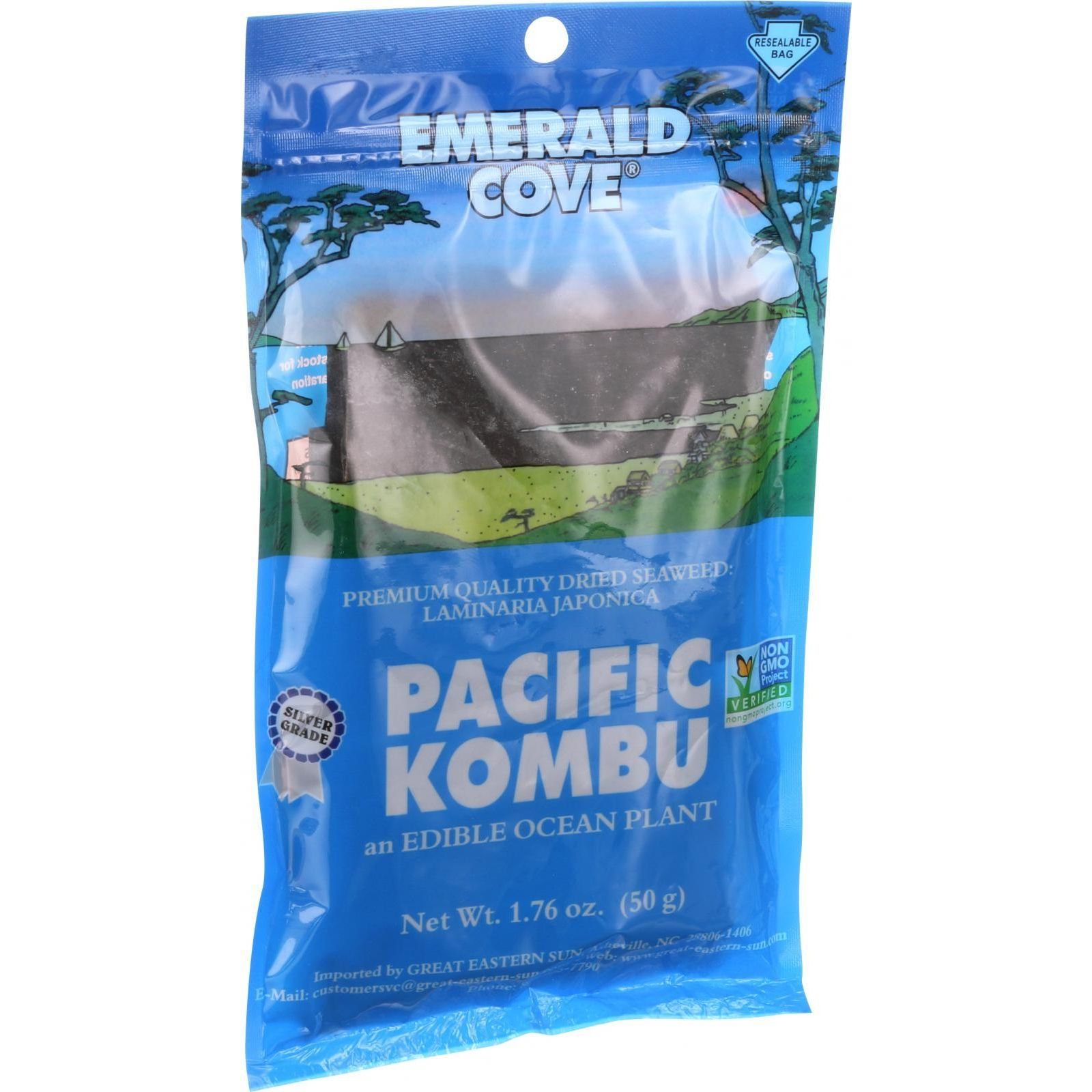Emerald Cove Sea Vegetables Pacific Kombu Silver Grade 1.76 oz Case of 6 by