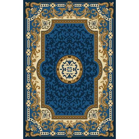 KING Traditional Oriental Floral 5X8 5x7 Rug 2034 Blue - A1 Oriental