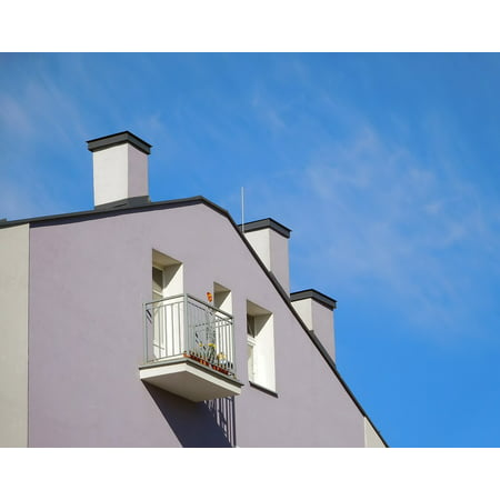 Canvas Print Balcony House Wall Building Apartment The Window Stretched Canvas 10 x 14