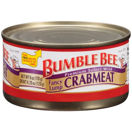 Bumble Bee Fancy Lump Crabmeat, 6oz - Bumble Bee Candy