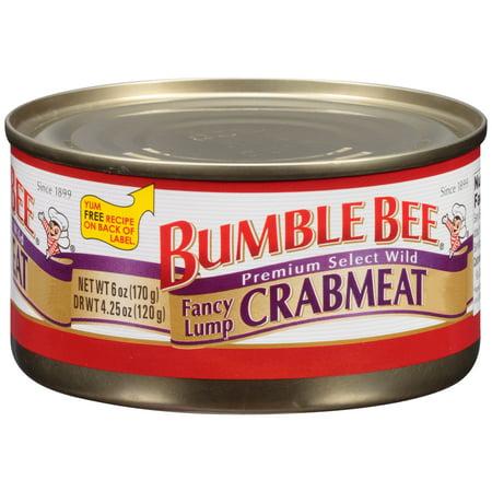 Bumble Bee Fancy Lump Crabmeat, 6oz - Dungeness Crab Alaska