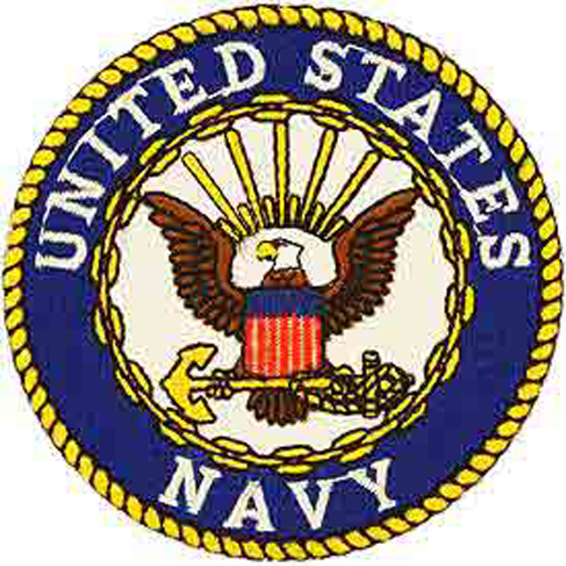 Embroidered Military Small Patch US Navy