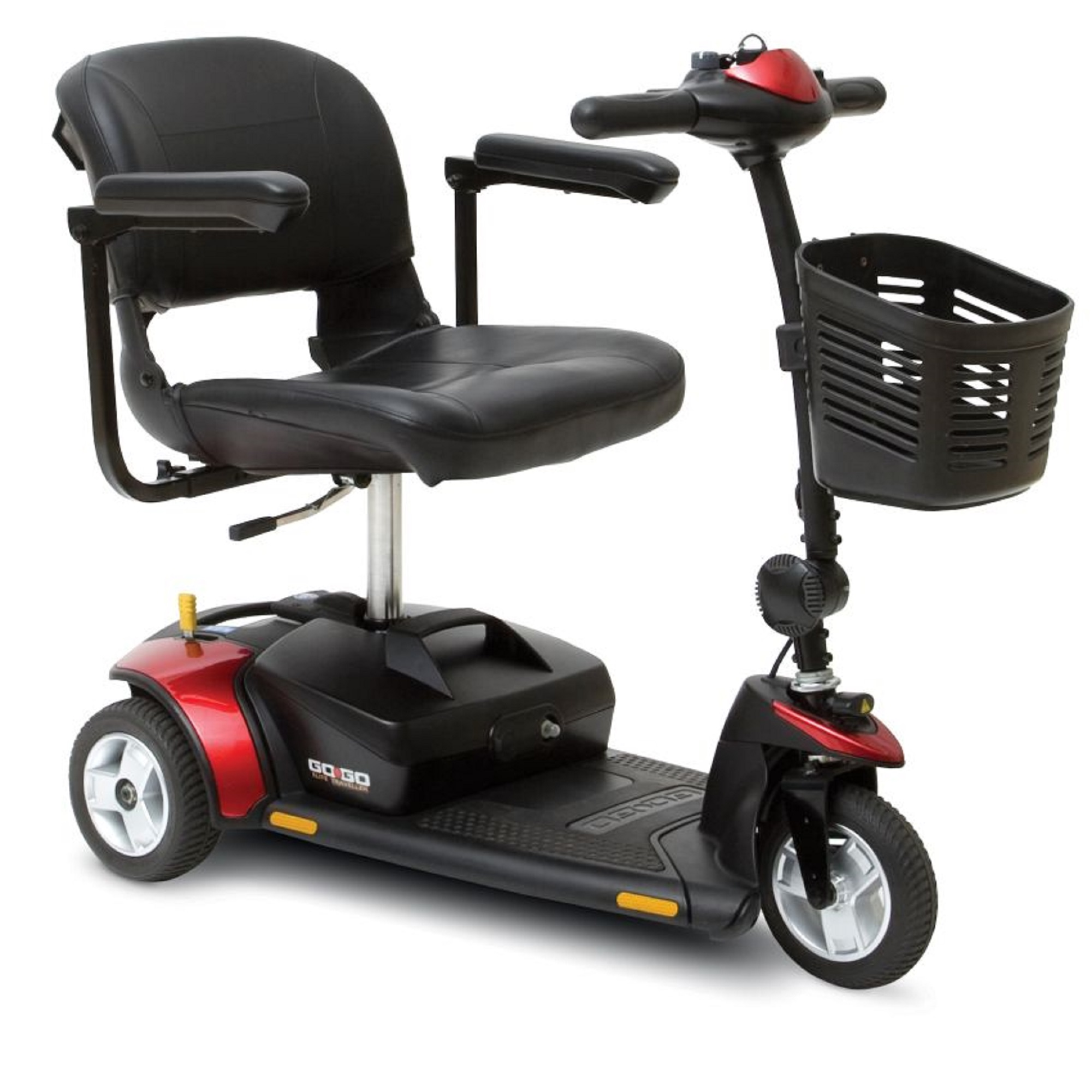 Pride Mobility - Go-Go Elite Traveller - Lightweight Travel Scooter - 3-Wheel - Red