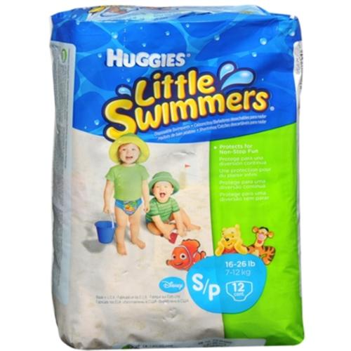 HUGGIES Little Swimmers Small 16-26 LBS 12 Each [8 packs per case] (Pack of 3)