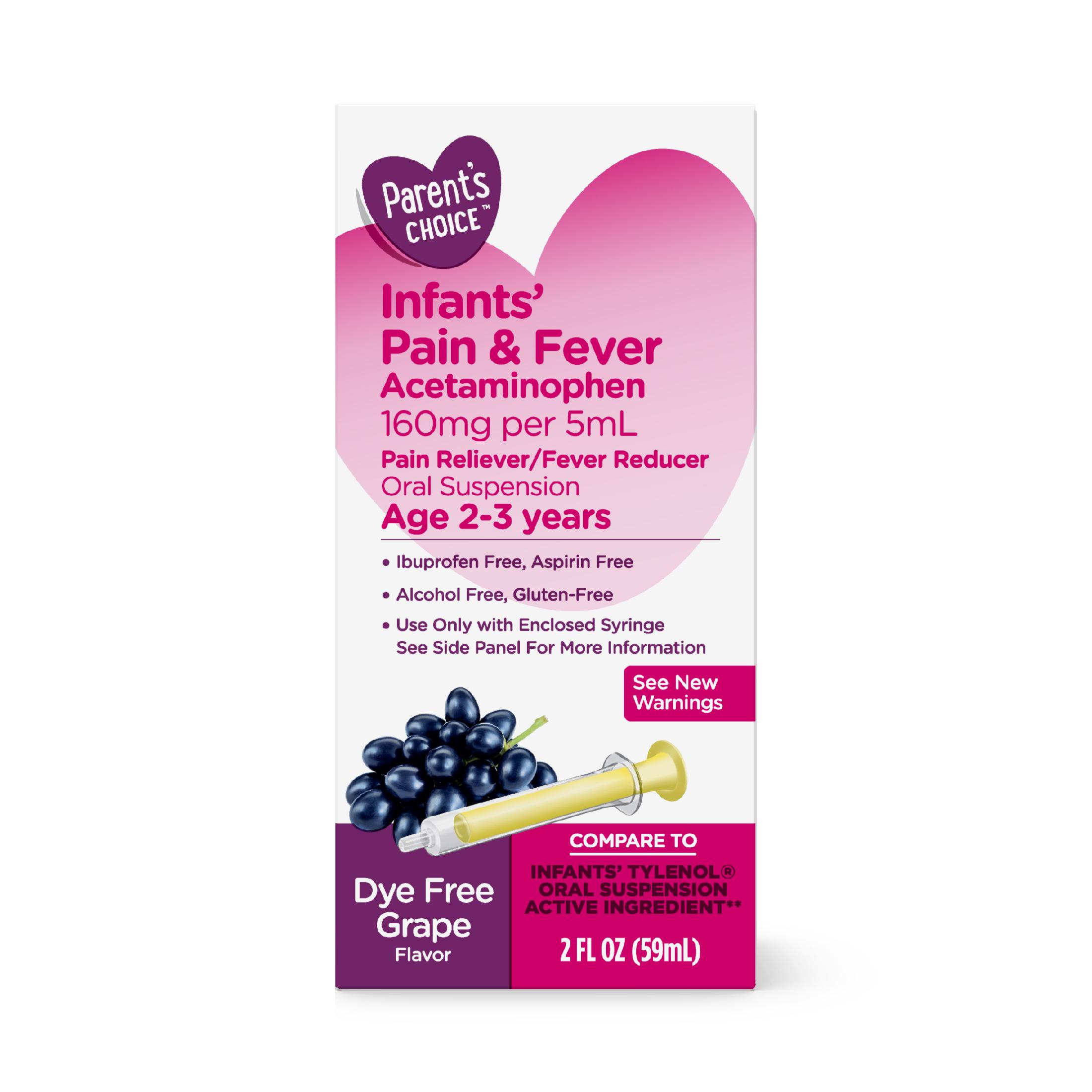 (2 Pack) Parent's Choice Infants' Pain & Fever, Acetaminophen, 2 fl oz