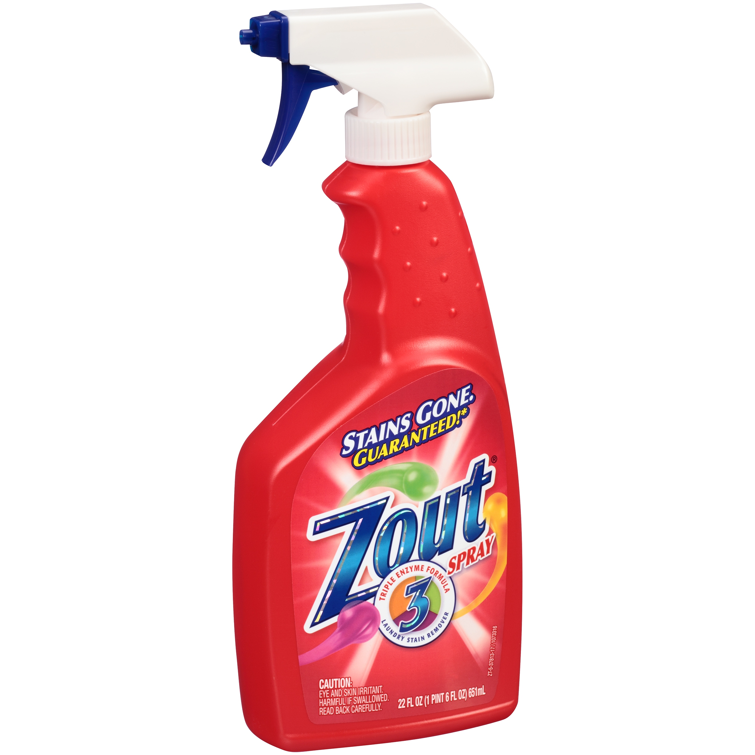 Zout® Triple Enzyme Formula Laundry Stain Remover Spray 22 fl. oz. Bottle